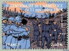 timbre: Soulagement des soldats (obli ronde)