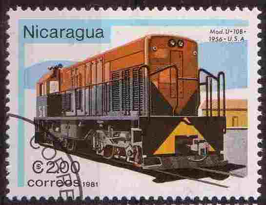 Timbre: Locomotive USA 1956