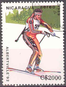 Timbre:  JO Alberville, biathlon