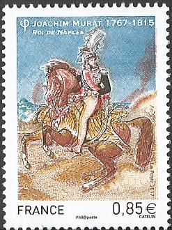 Timbre: Mal Murat (1767-1815) Roi de Naples