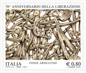 Timbre: 70 ans de la libération : sculpture