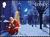 Timbre: Le père noël ramasse le courrier