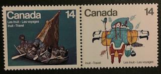 Timbre: Les Inuits - Les voyages
