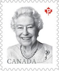 Timbre: La reine Elizabeth II Adh