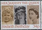 Timbre: 60è ann. de S.M. Elisabeth II