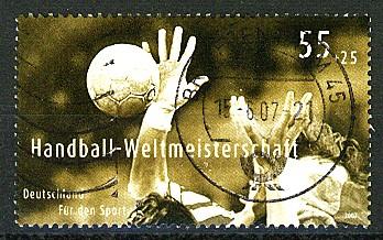 Timbre: Pour le sport - Championnat du monde de handball