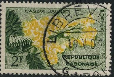 Timbre: Cassia jaune