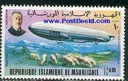 Timbre: 75éme anniversaire du premier zeppelin