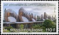 Timbre: 20e anniversaire du Centre Culturel Tjibaou