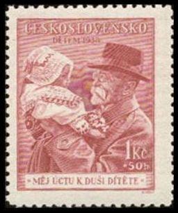 Timbre: Le Président Masaryk Tomas °