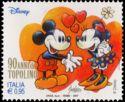 Timbre: Mickey et Minnie