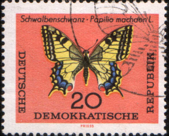 timbre: Papillon machaon Papilio machaon