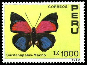 timbre: Papillon - Sardanapalus mâle