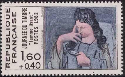 Timbre: Femme lisant, de Picasso