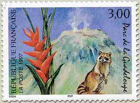 Timbre: Sc 2570 - Parc de la Guadeloupe