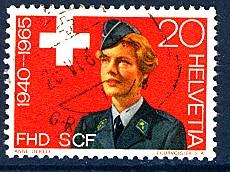 Timbre: 25e anniversaire du service complémentaire féminin