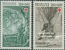 Timbre: Paire Hommage à Jules Verne