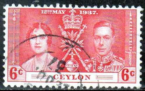 Timbre: Couronnement de George VI
