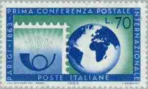 Timbre: 100 ans conference postal de Paris   Ov