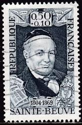 Timbre: Augustin Sainte-Beuve, poète