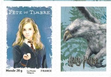 Timbre: Hermione  adhésif avec vignette