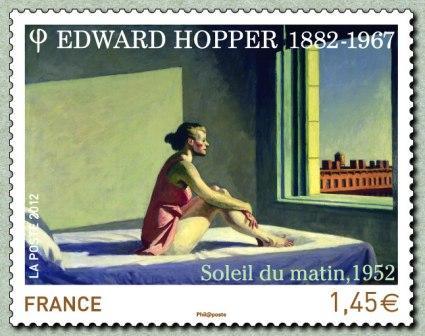 Timbre: Edward Hopper (adhésif pro)