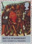 Timbre: Lancaster et york bataille d'azincourt