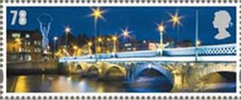 Timbre: Pont Queen's Bridge à Belfast