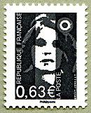 Timbre: Marianne de Briat   Adhésif