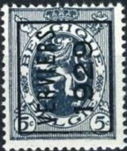 Timbre: Preo VERVIERS 1929 (N°279) A (gauche)