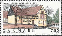 Timbre: Maison à Randers (1650)