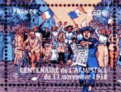 Timbre: Centenaire de l'armistice du 11 novembre 1918