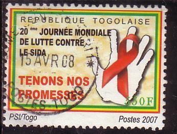 Timbre: 20è journée mondiale de lutte contre le SIDA