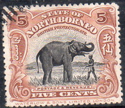 Timbre: Borneo du nord : Elephant
