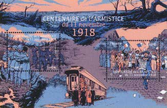 Timbre: Centenaire de l'Armistice du 11 nov. 1918