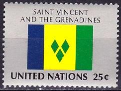 Timbre: Drapeau St-Vincent SUR FDC