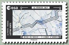 Timbre: Neige en Russie