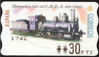 Timbre: Locomotive (distributeur)
