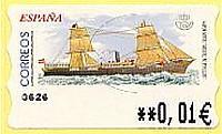 Timbre: Distributeur - Navire à voiles et à vapeur