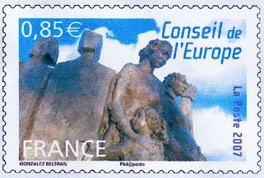 Timbre: Conseil de l'Europe (VAGUES)