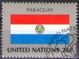 Timbre: Drapeau du Paraguay  NEW YORK X3