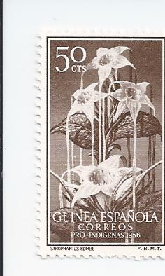 Timbre: Strophantus kombe - flore