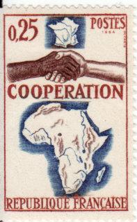 Timbre: Coopération avec l'Afrique et Madagascar
