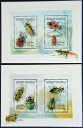 timbre: Insectes, 2 blocs de 2 t.