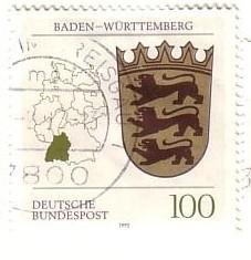 Timbre: Armoiries du Baden-Wurttemberg