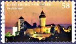 Timbre: Château de Nuremberg Adhésif res brusprintin