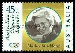 Timbre: Olympique Legends, Shirley Strickland