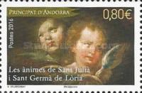Timbre: Andorre Fr : Ames de San Julià et Sant Germà de Loria