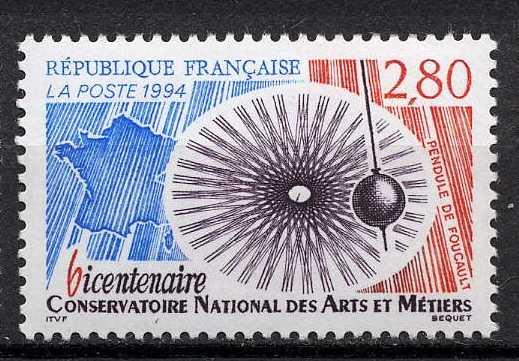 Timbre: Bicentenaire du conservatoire national des ars et métiers
