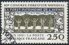timbre: 10ème congrès forestier mondial